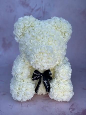 Cream forever rose bear